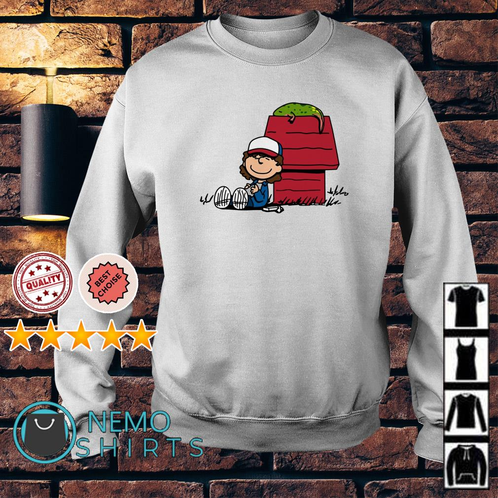 Stranger Things Dustin And Dart Peanuts Sweater