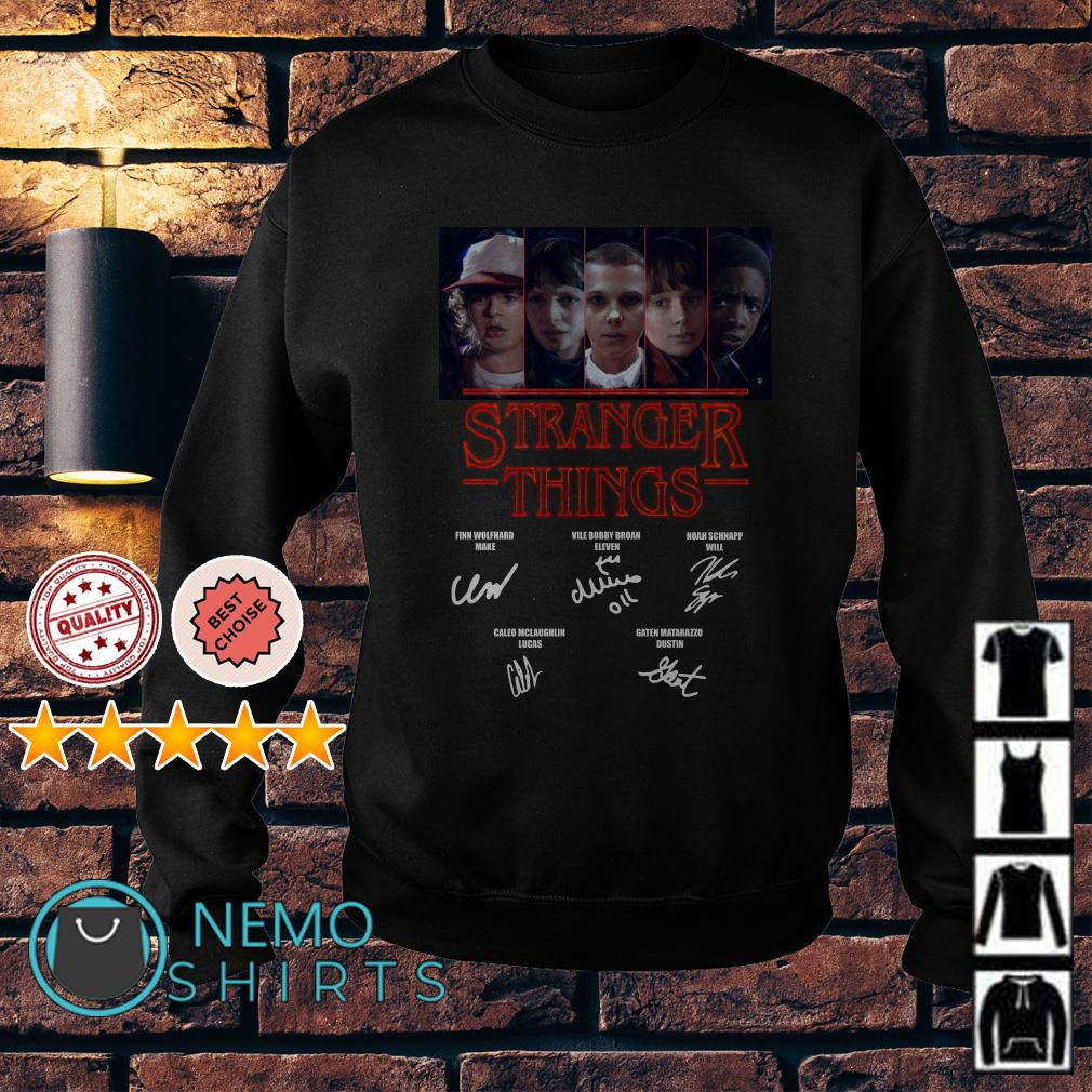 Stranger Things Mike Dustin Eleven Will Byers Lucas signature Sweater