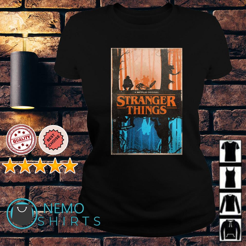 Stranger Things a netflix original upside down Ladies Tee