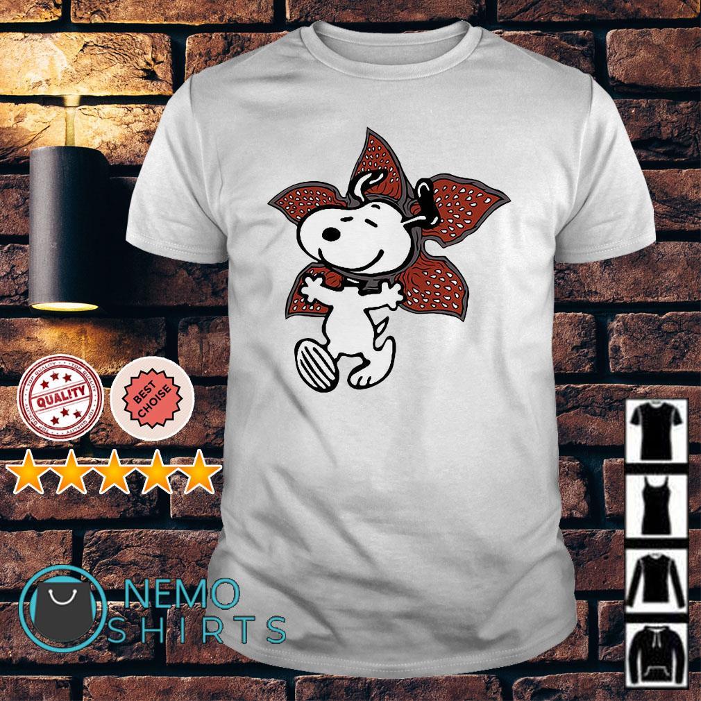 Stranger Things Snoopy The Demogorgon shirt