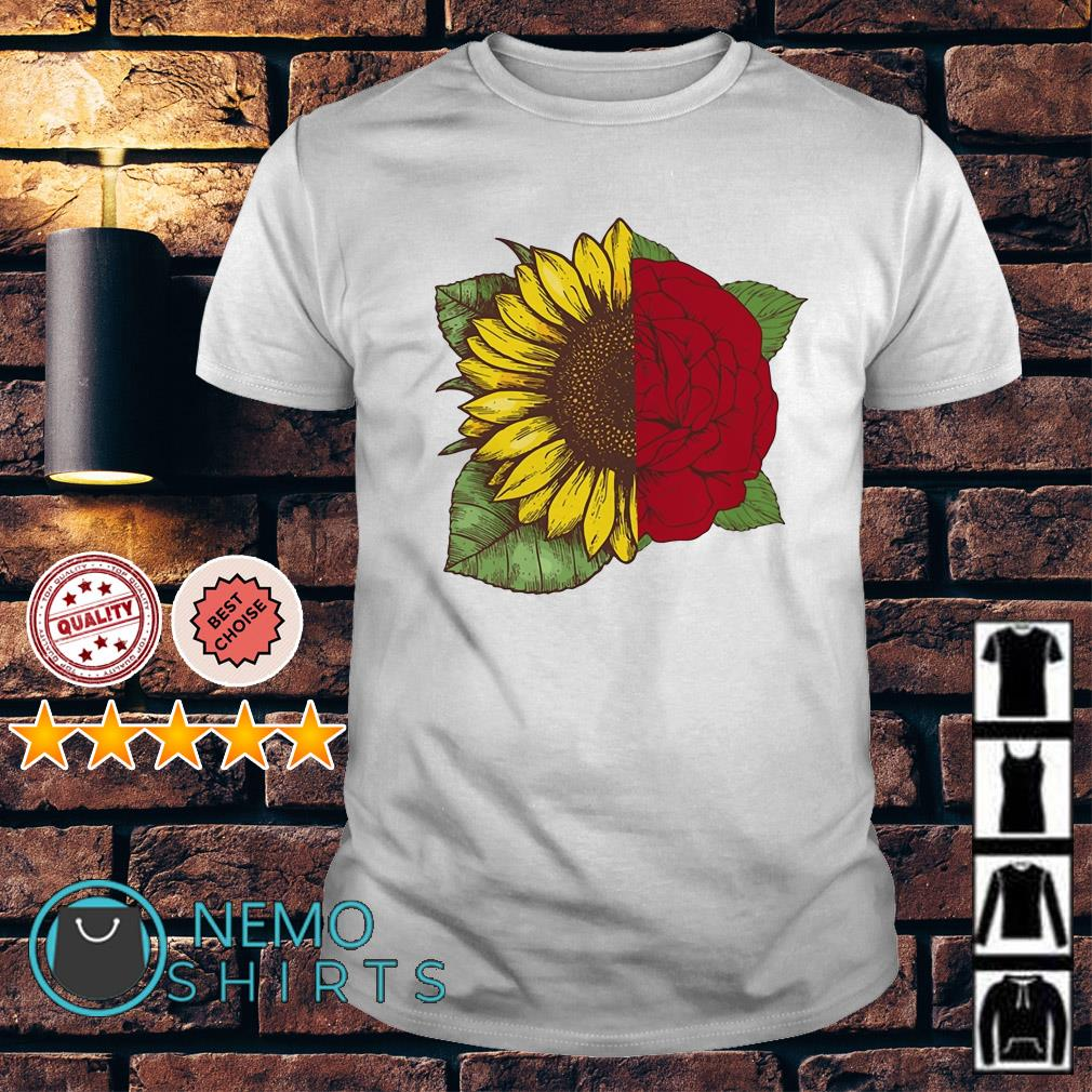 Sunflower and rose shirt