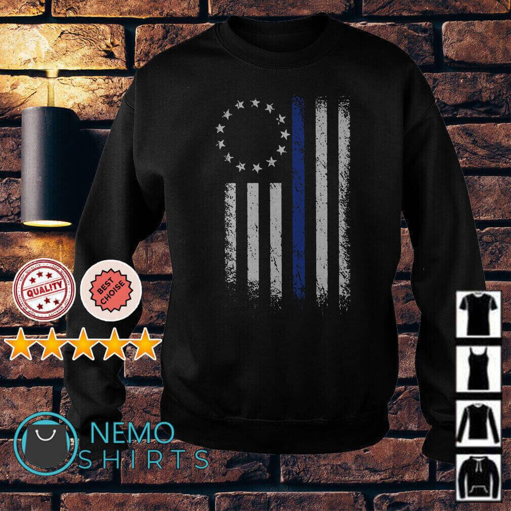 Thin Blue Line Betsy Ross Flag Sweater