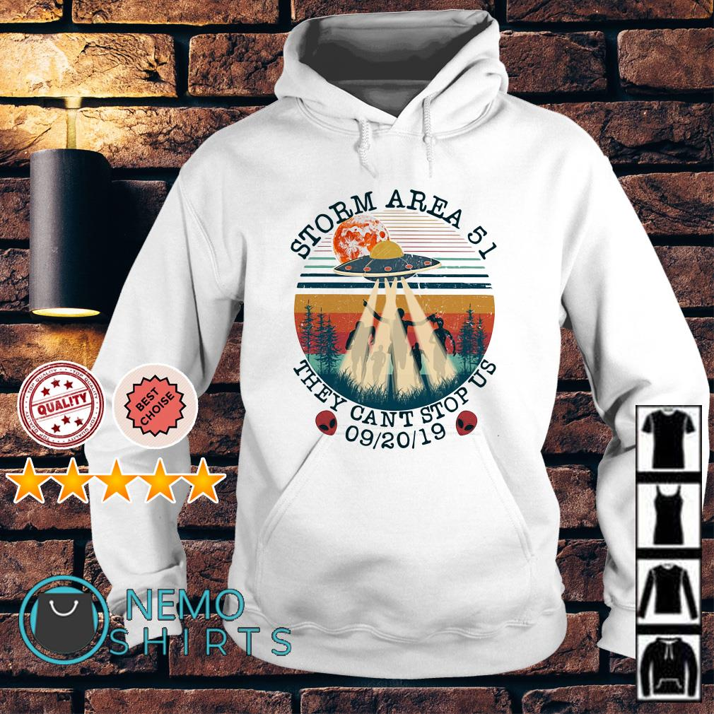 UFO storm Area 51 they can't stop us vintage Hoodie