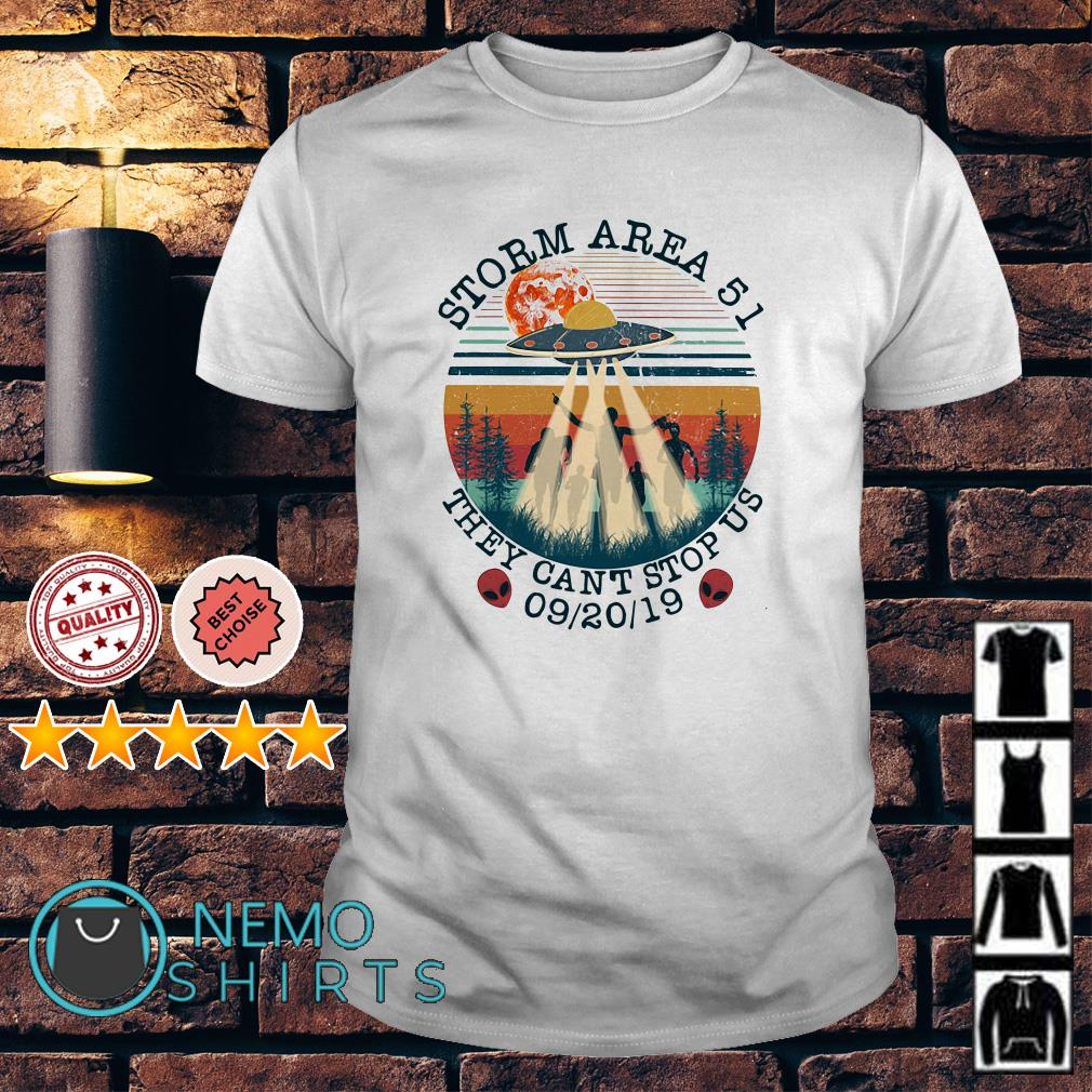UFO storm Area 51 they can't stop us vintage shirt