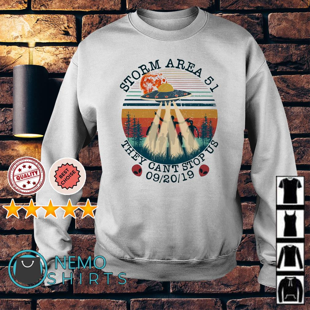 UFO storm Area 51 they can't stop us vintage Sweater