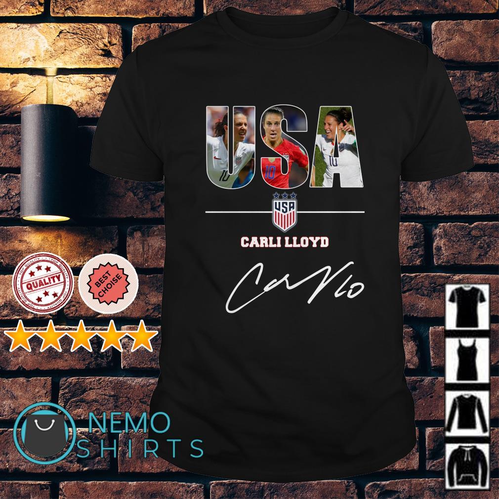 USA women's soccer Carli Lloyd signature shirt