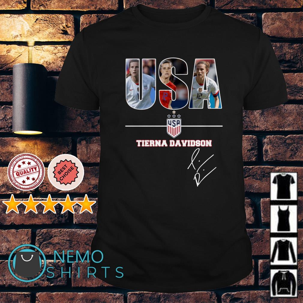 USA women's soccer Tierna Davidson signature shirt