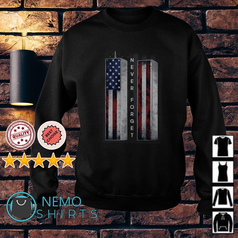 Veteran never forget American flag Sweater