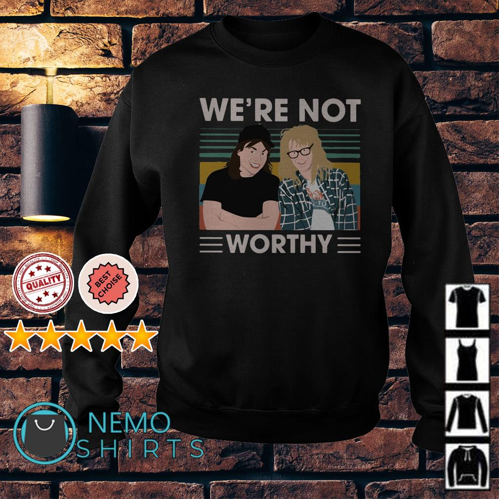 Wayne's World We're not worthy vintage Sweater