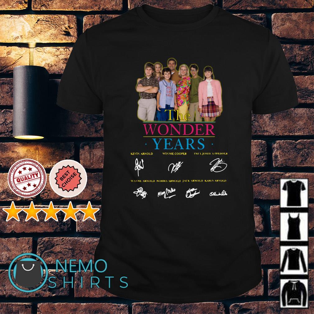 The Wonder years characters signature shirt
