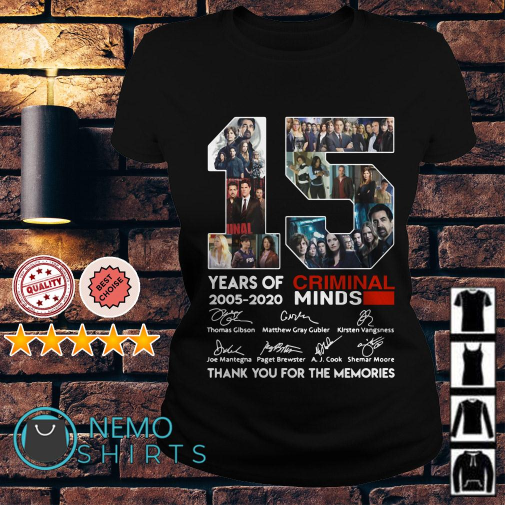 15 years of Criminal Minds 2005 2020 thank you for the memories Ladies tee