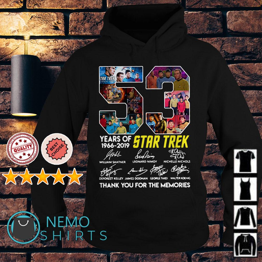 53 years of Star Trek 1966 2019 thank you for the memories Hoodie