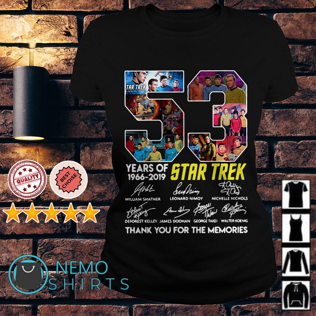 53 years of Star Trek 1966 2019 thank you for the memories Ladies tee