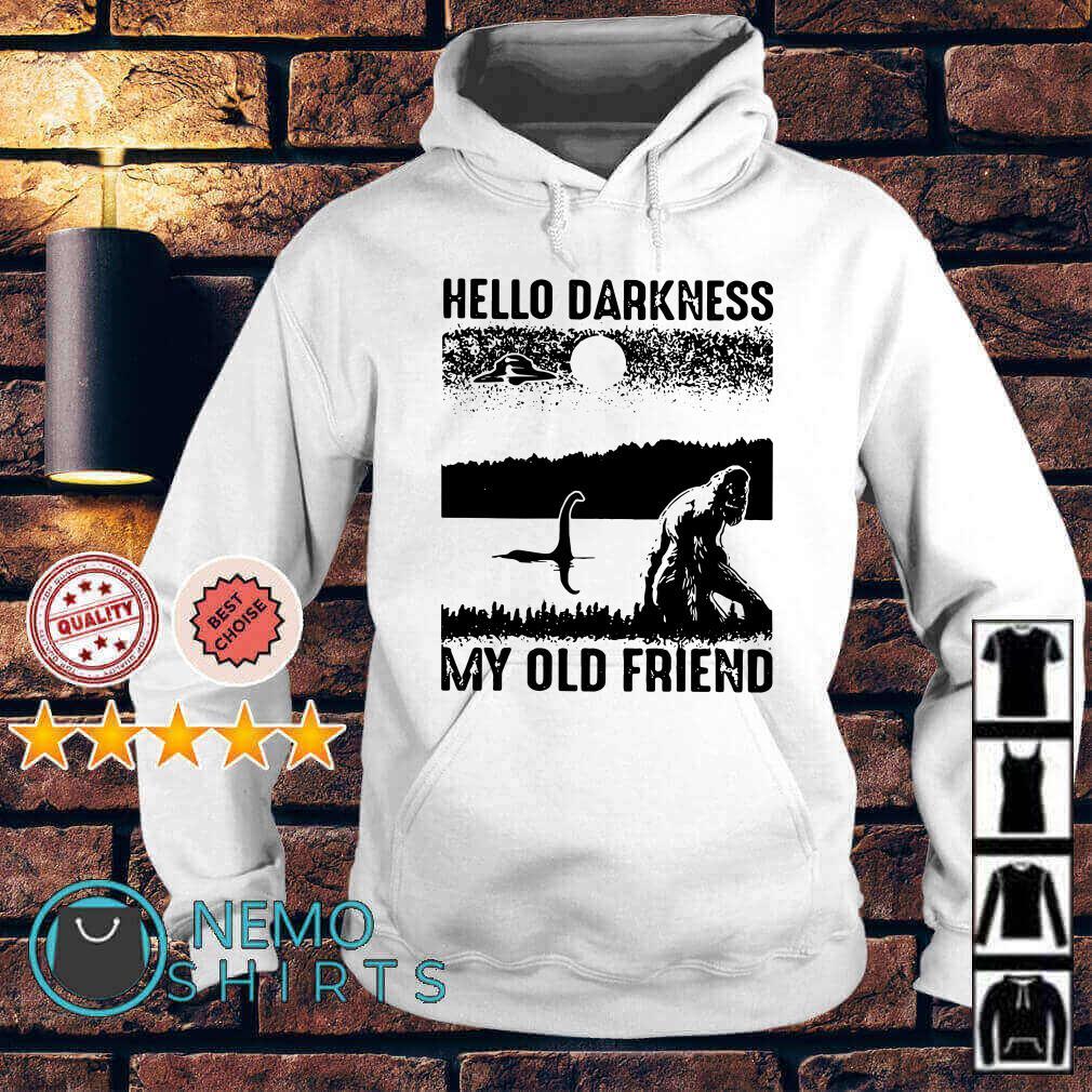 Bigfoot Loch Ness hello darkness my old friend Hoodie