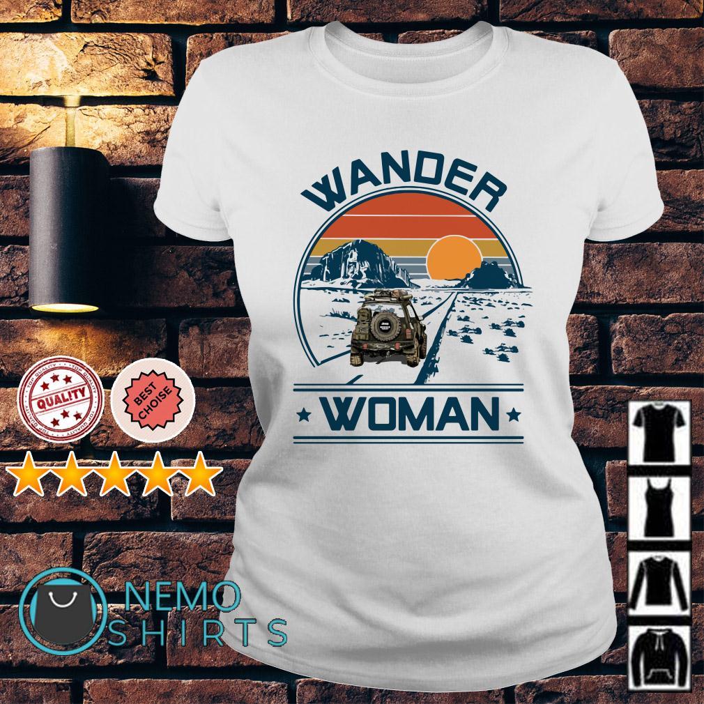 Camping Wander woman Ladies tee