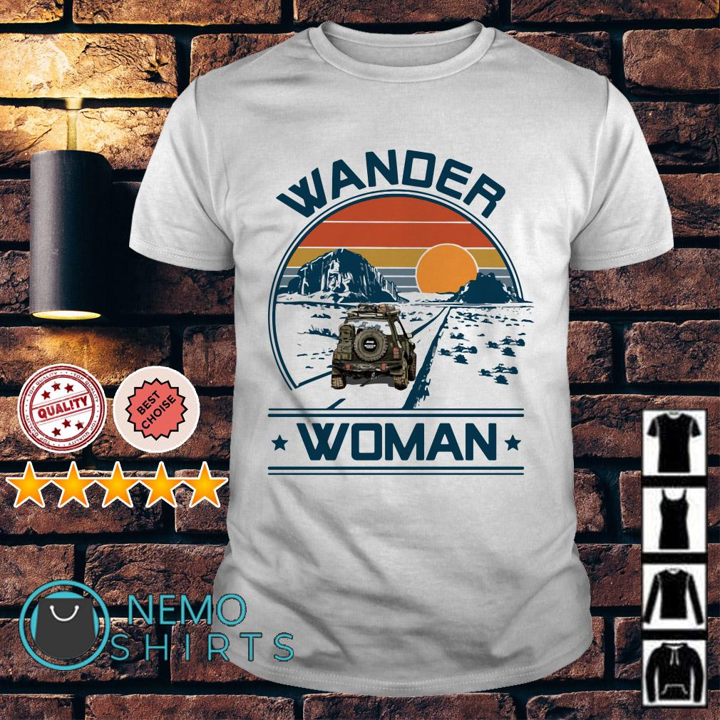 Camping Wander woman shirt