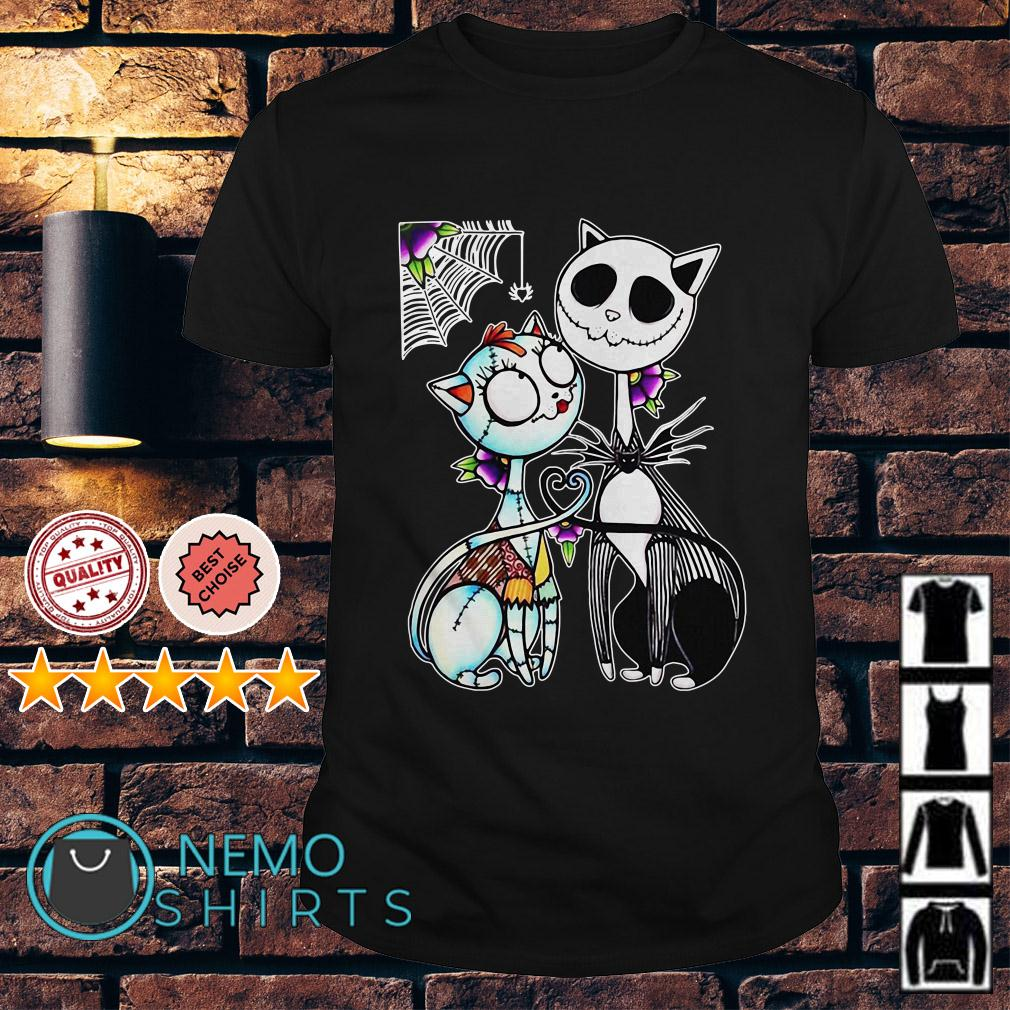 Cat Jack and Sally Halloween shirt