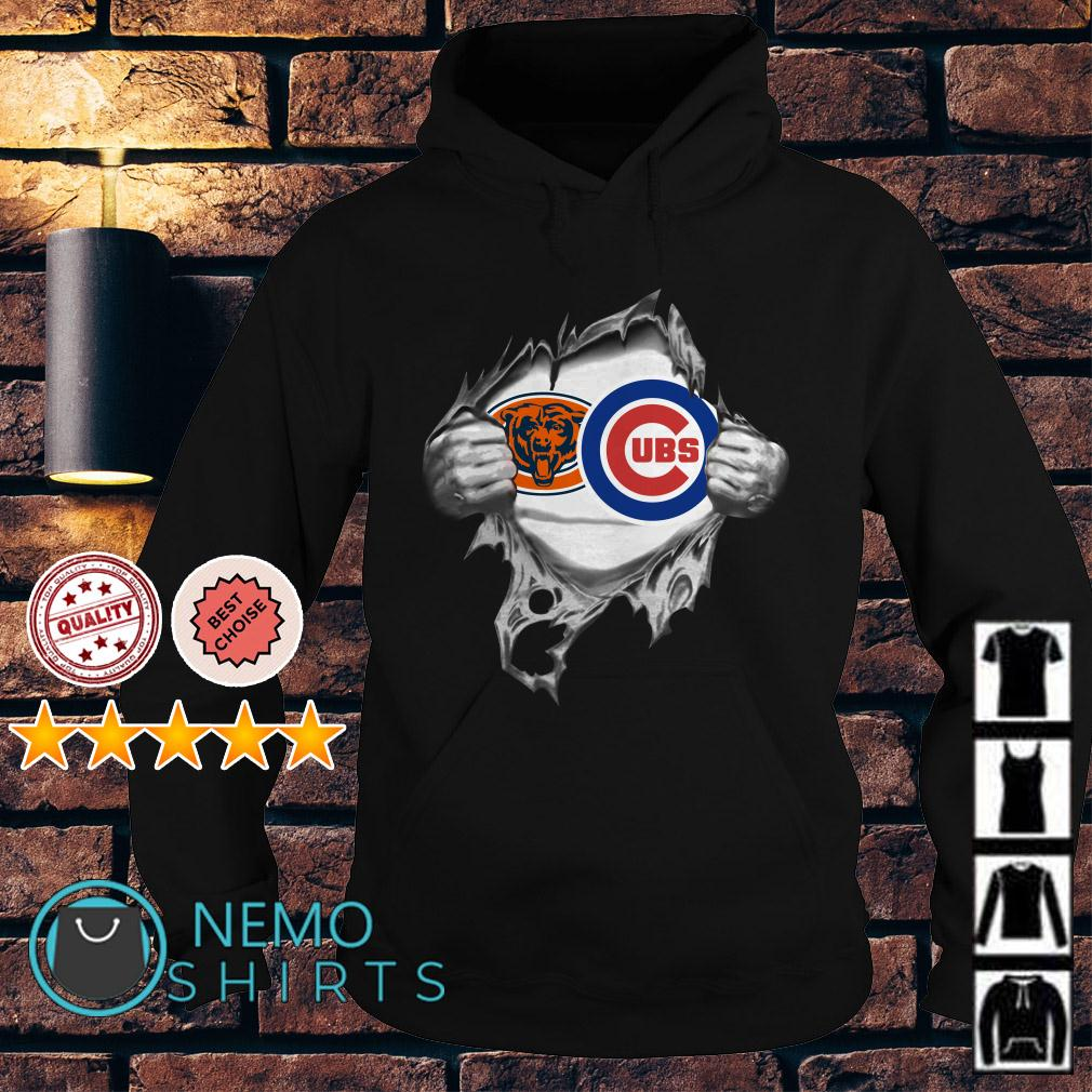 Chicago Bears and Chicago Cubs inside me Hoodie