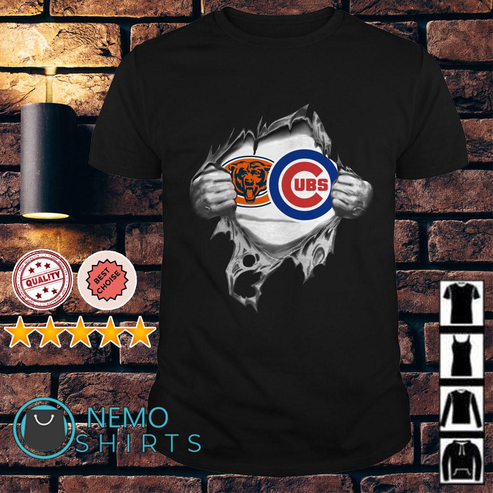 Chicago Bears and Chicago Cubs inside me shirt
