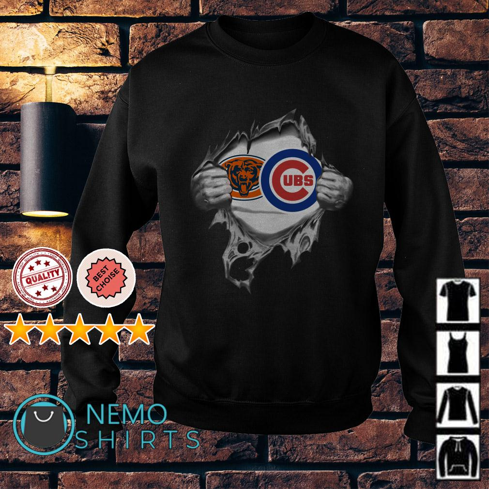 Chicago Bears and Chicago Cubs inside me Sweater