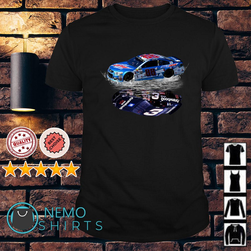 Dale Earnhardt Jr. Car water mirror reflection shirt