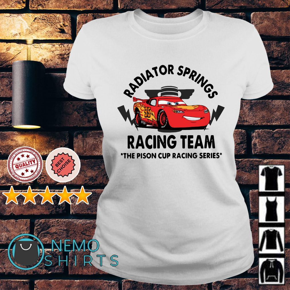Disney Cars Radiator springs racing team the pison cup racing series Ladies tee