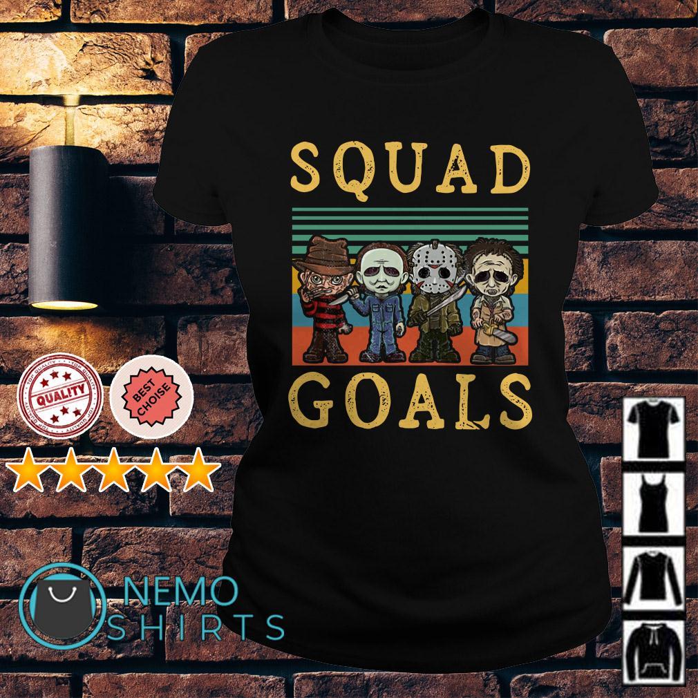 Freddy Krueger Michael Myers Jason Voorhees Leatherface squad goals retro Ladies tee
