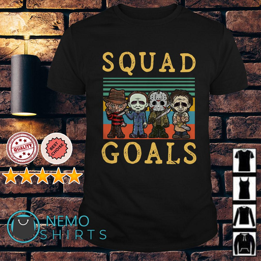 Freddy Krueger Michael Myers Jason Voorhees Leatherface squad goals retro shirt