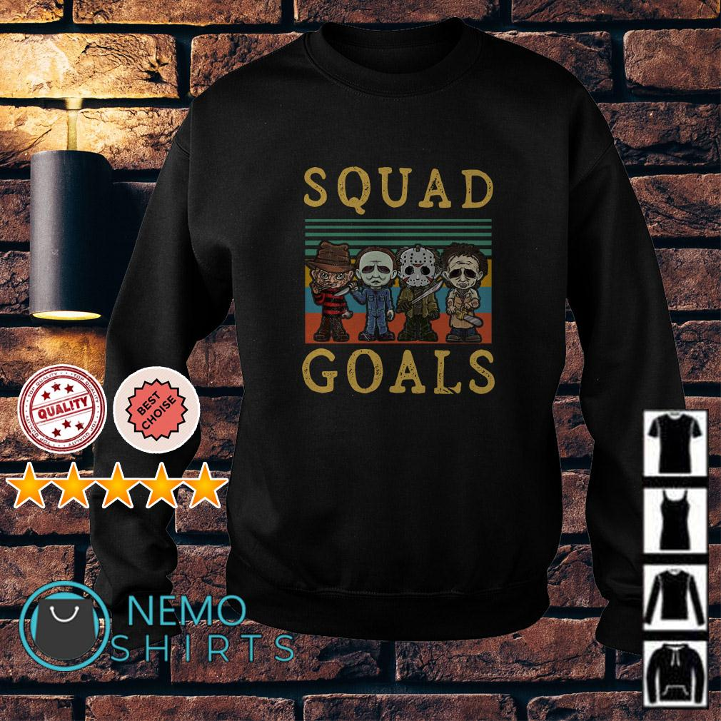 Freddy Krueger Michael Myers Jason Voorhees Leatherface squad goals retro Sweater