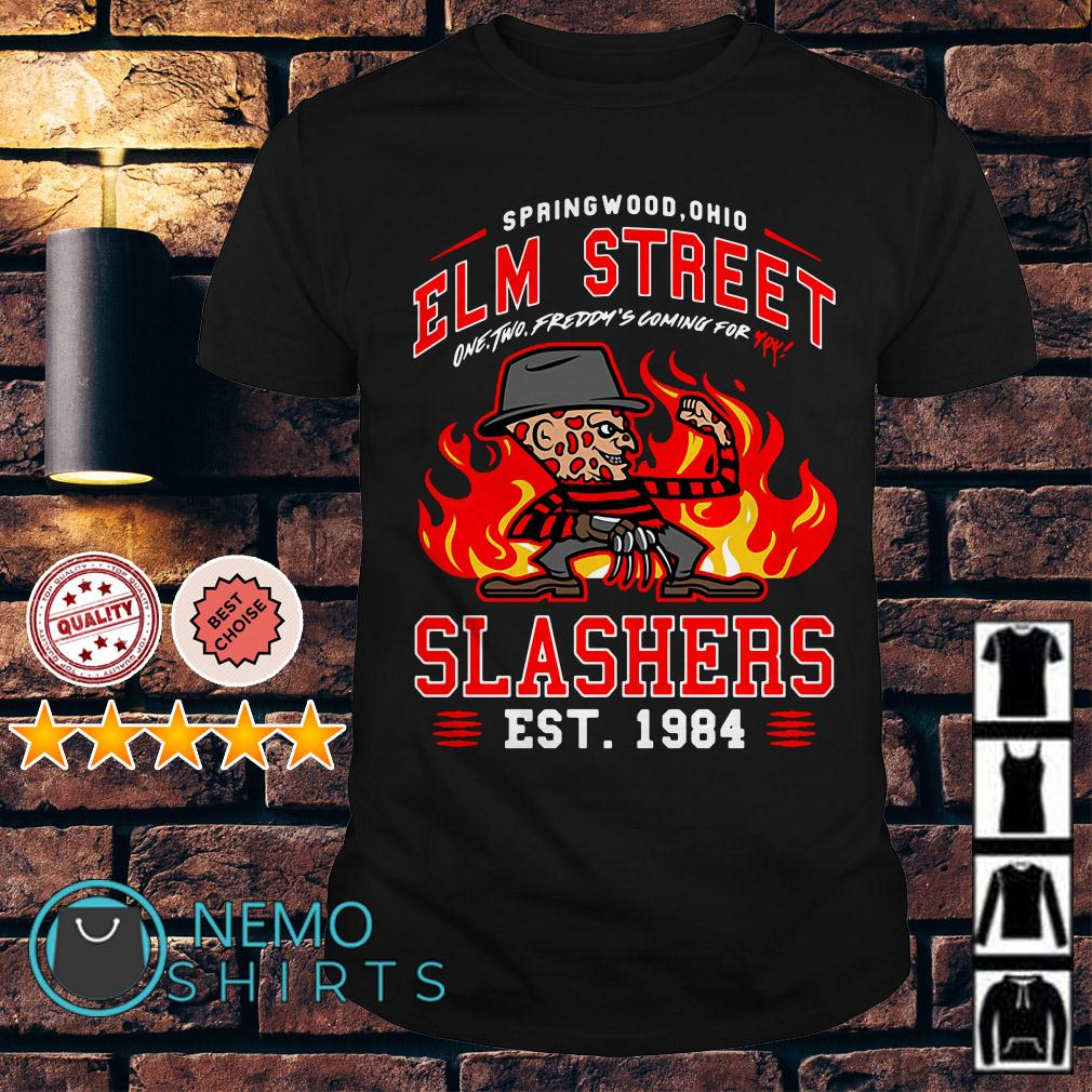 Freddy Krueger Springwood Ohio Elm street one two Freddy's coming shirt