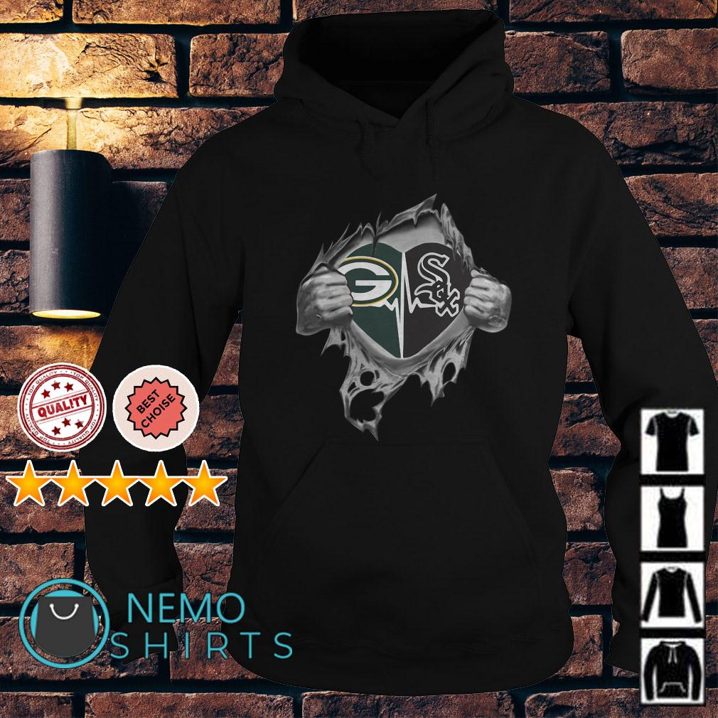 Green Bay Packers and Chicago White Sox inside me Hoodie
