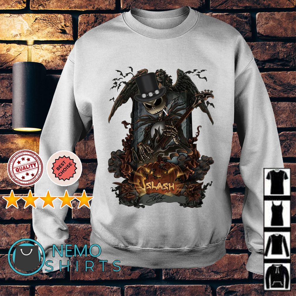 Halloween Jack Skellington Smoking Slash Pumpkin Sweater