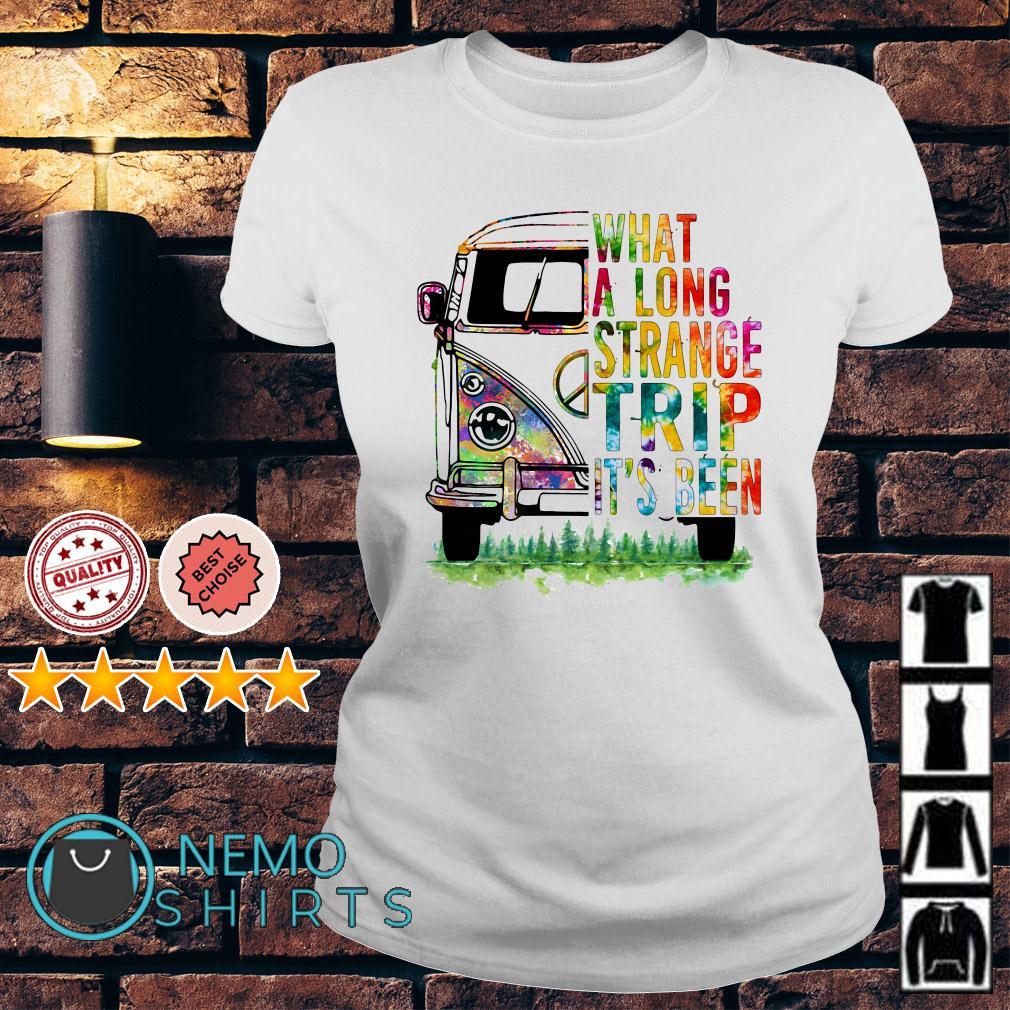 Hippie van what a long strange trip it's been Ladies tee