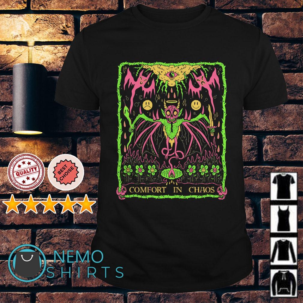 Horror bat Comfort in Chaos Halloween shirt