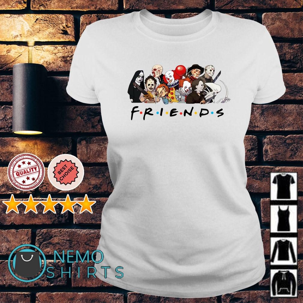 Horror characters chibi Friends TV Show Ladies tee