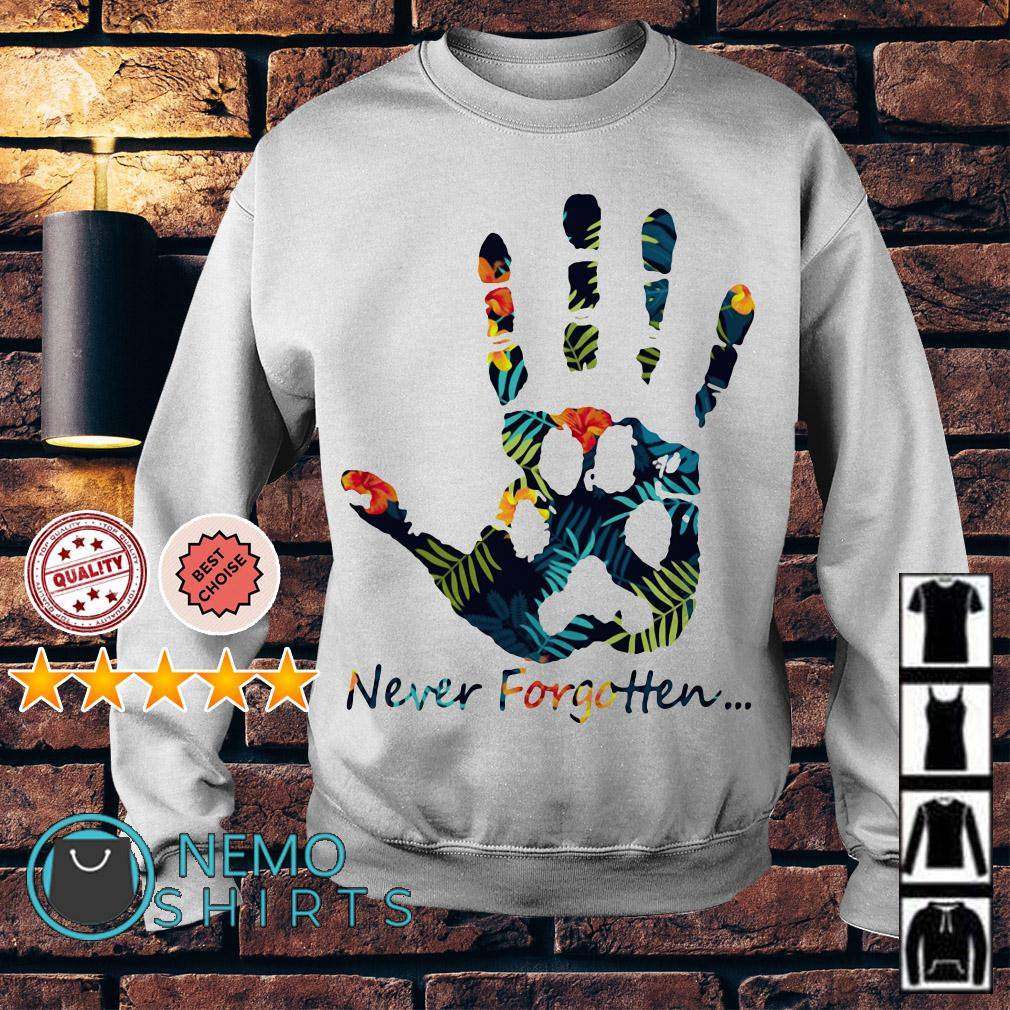 Human hand and animal paw never forgotten Sweater