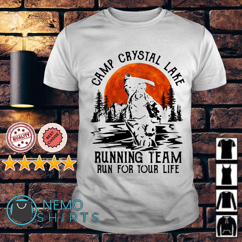 Jason Voorhees camp crystal lake running team run for tour life shirt