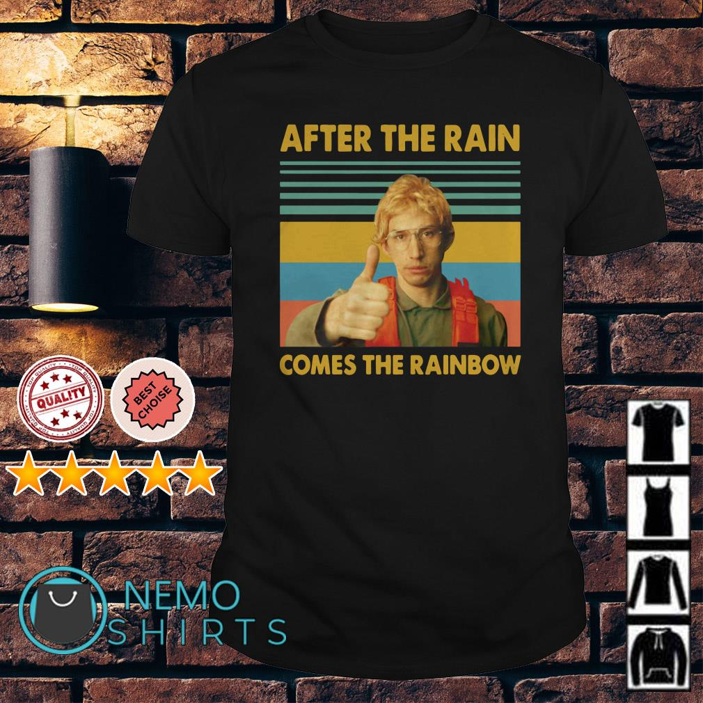 Kylo Ren Goes After the rain comes the rainbow vintage shirt