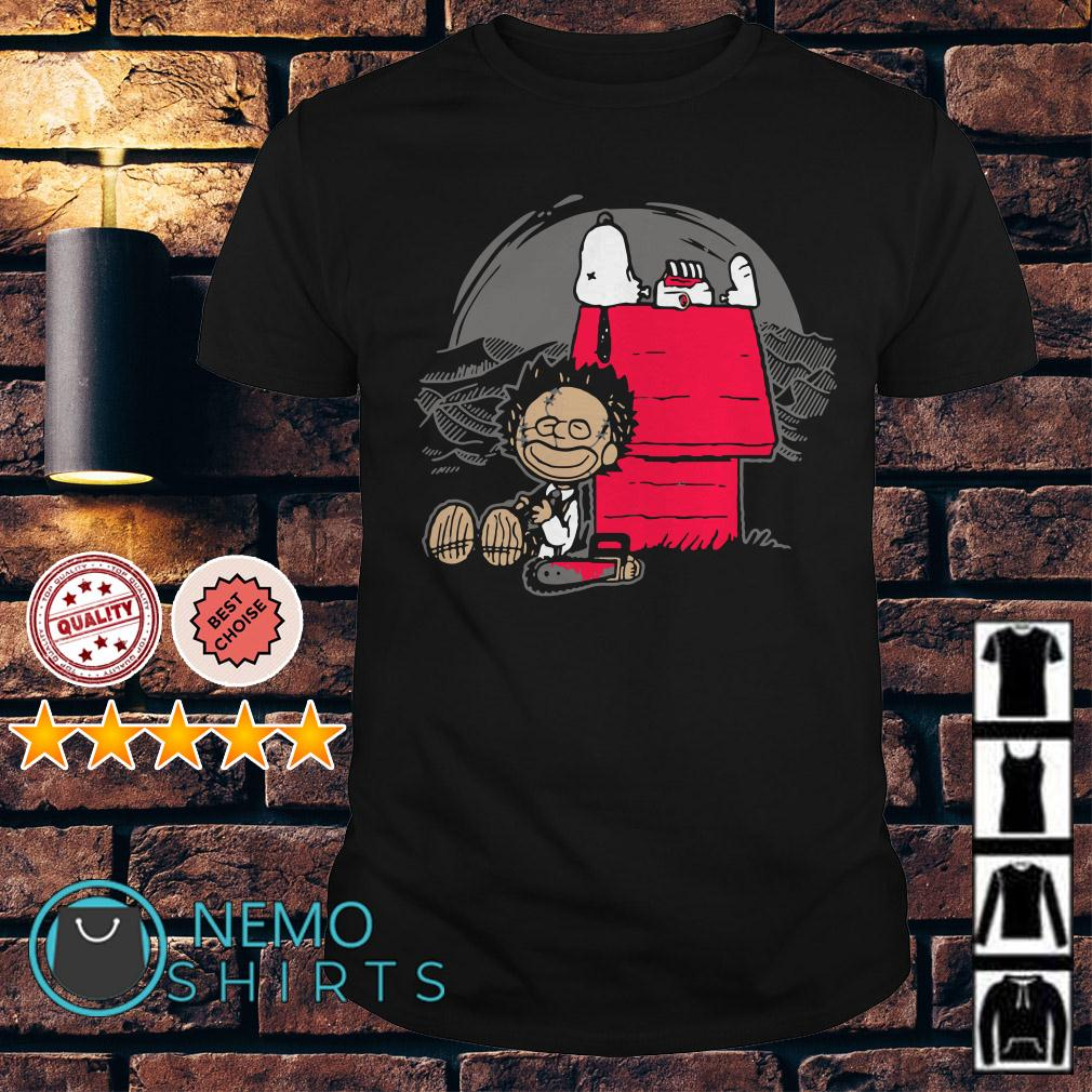 Leatherface and Snoopy on the Woodstock shirt