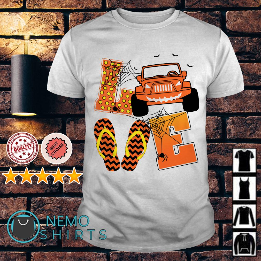 Love Jeep and Flip flops Halloween shirt