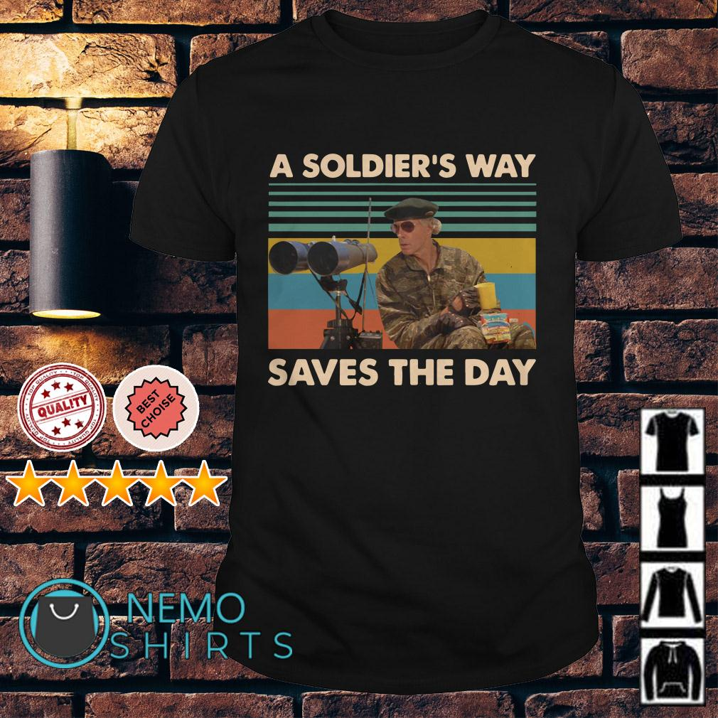 Mark Rumsfield A soldier's way saves the day vintage shirt