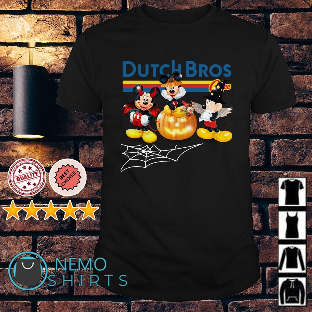 Mickey Mouse Dutch Bros Halloween shirt