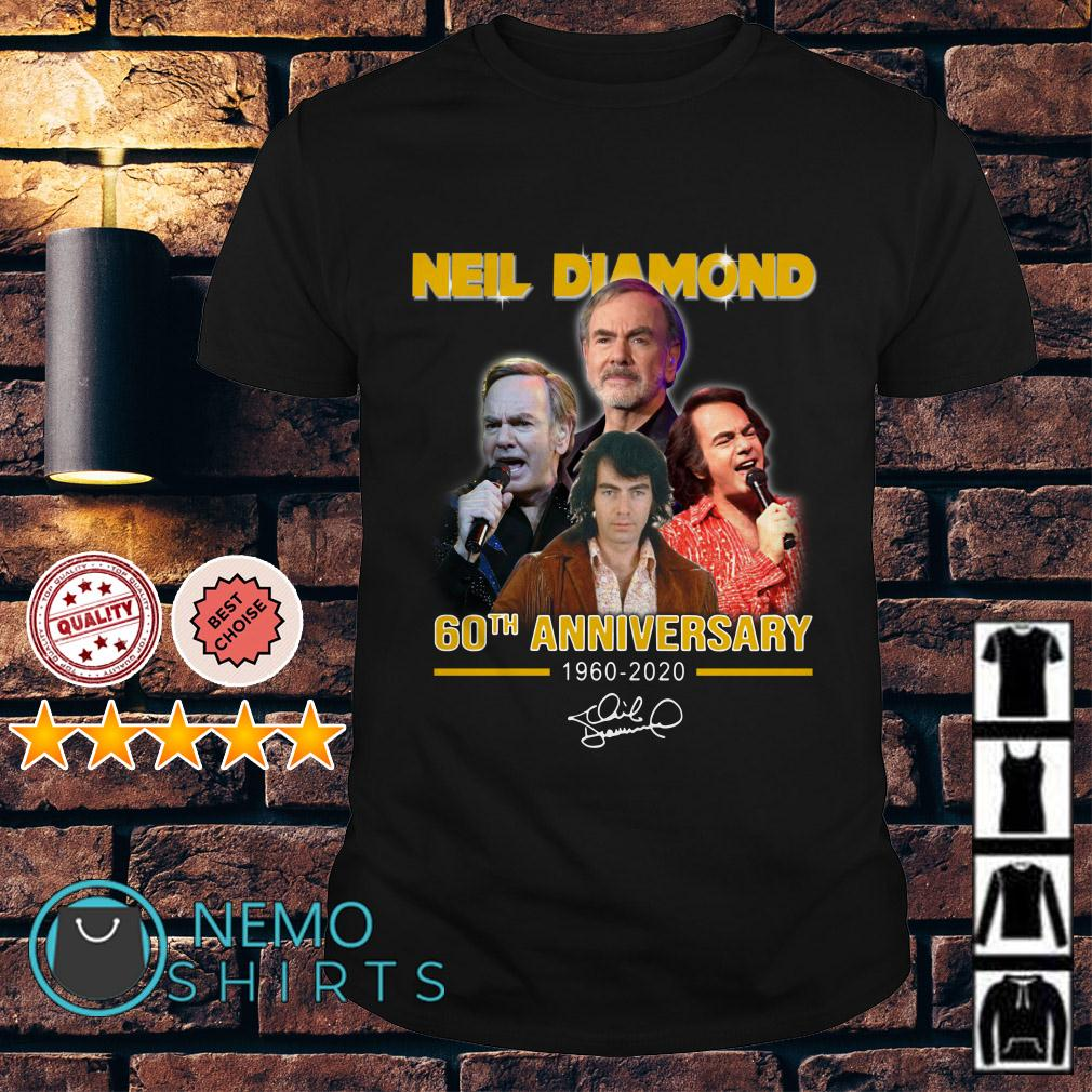 Neil Diamond 60th Anniversary 1960 2020 signature shirt