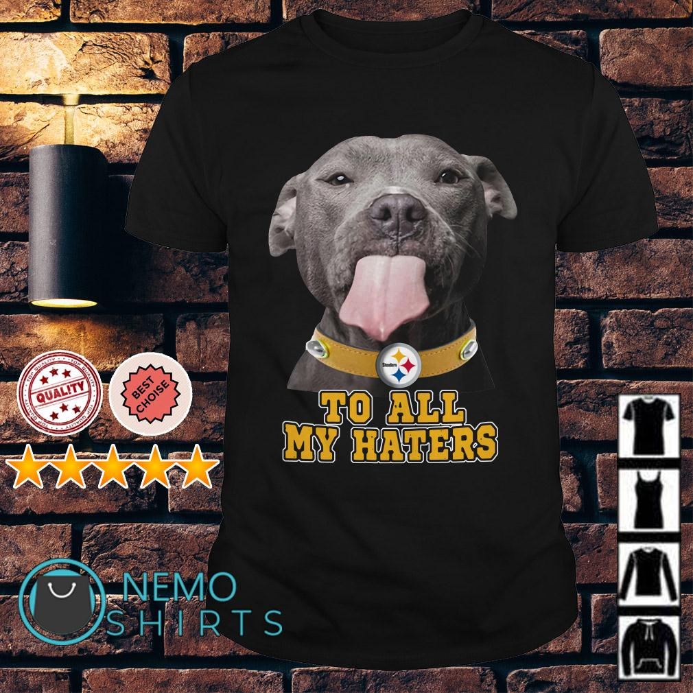 Pitbull to all my haters Pittsburgh Steelers shirt