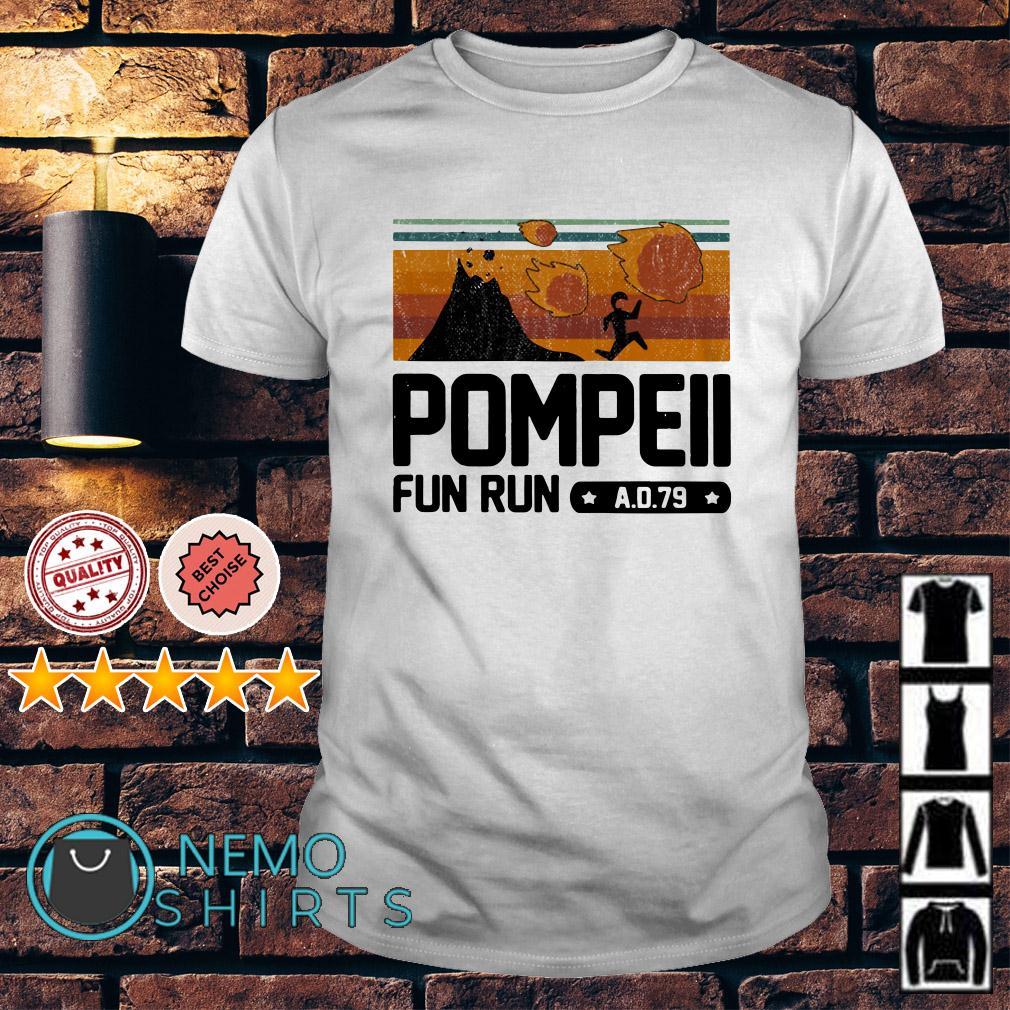 Pompeii fun run vintage shirt