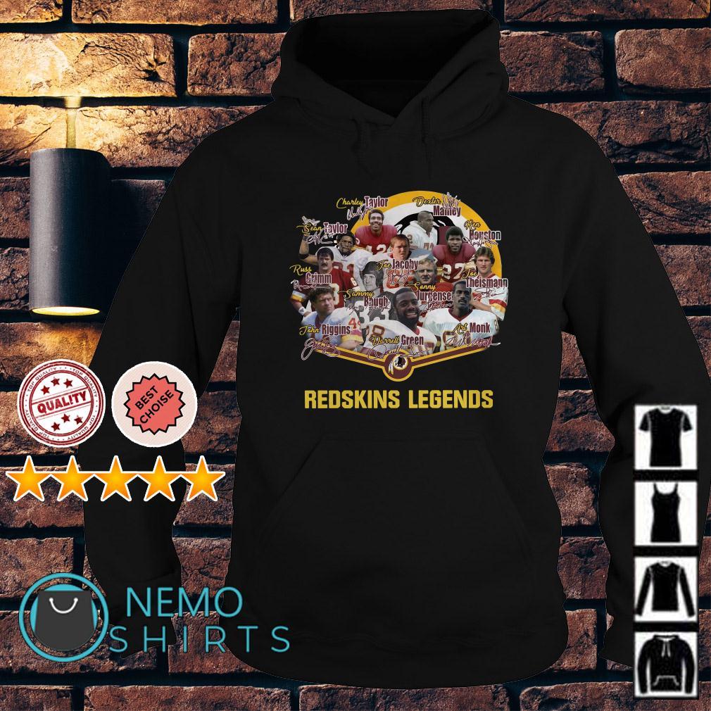 Redskins football team legends signature Hoodie