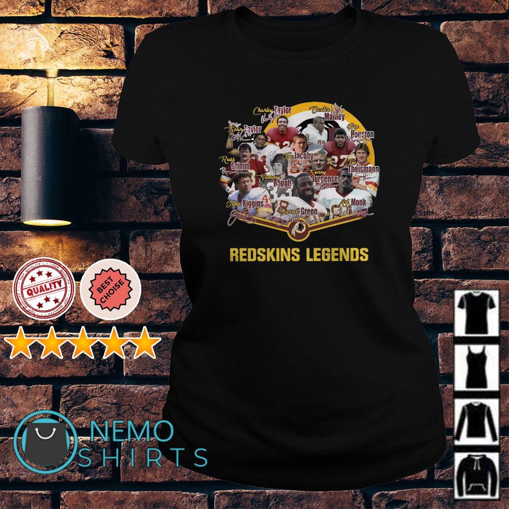 Redskins football team legends signature Ladies tee