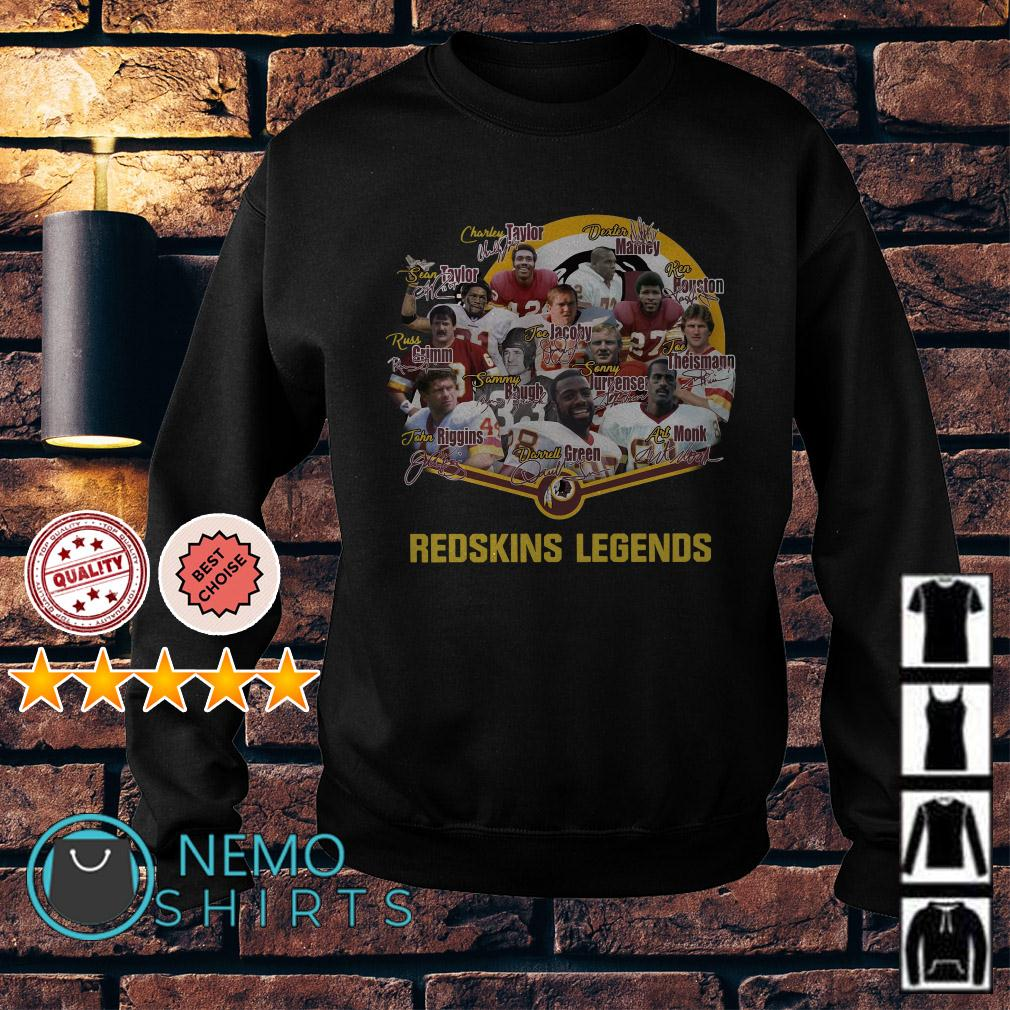 Redskins football team legends signature Sweater