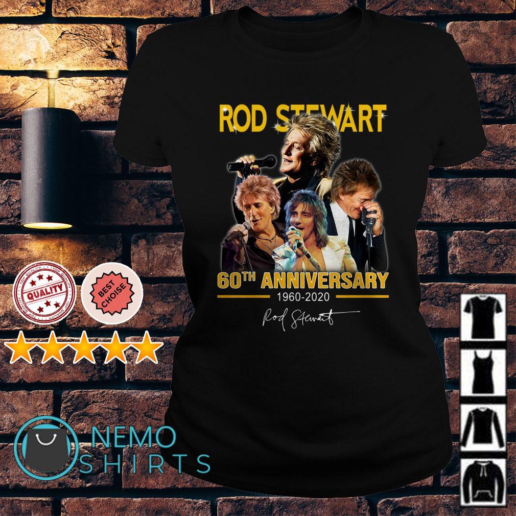 Rod Stewart 60th Anniversary 1960 2020 signature Ladies tee