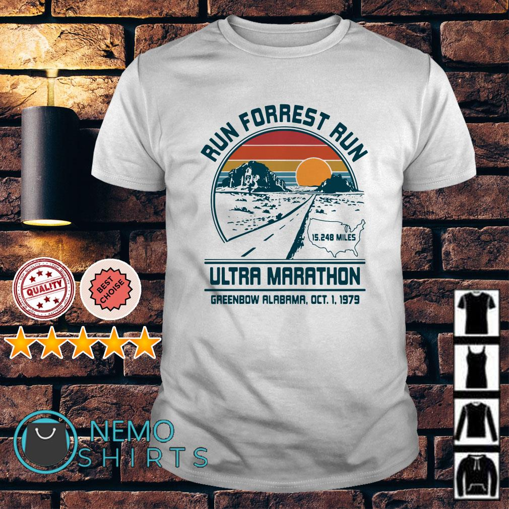 Run forrest run ultra marathon vintage shirt
